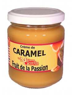 Crème de caramel au beurre salé et au fruit de la passion